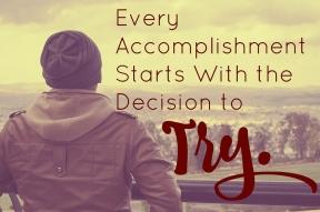 try accomplish